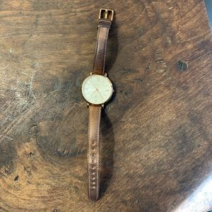 Fossil Gold and Leather Watch